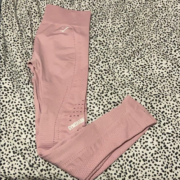 Gymshark Flawless knit leggings (in pink)